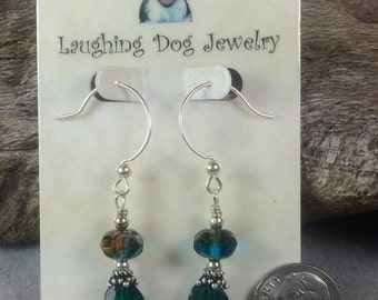 Picasso Glass and Sterling Silver Earrings