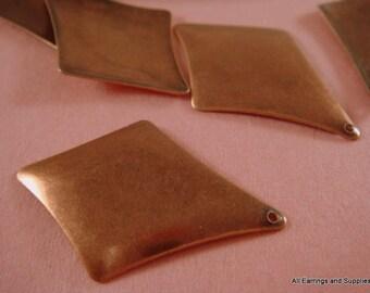 10 Kite Diamond Charm Drop Antique Copper 30x20mm - 10 pc - 5096