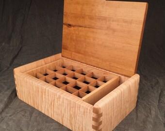 Jewelry Box--Curly Maple & Cherry Jewelry Box--Gentleman's Box