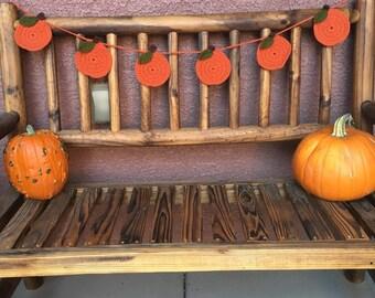 Fall Crochet Pumpkin Garland