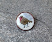 Little Ceramic Robin Brooch