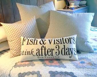Fish & Visitors Pillow
