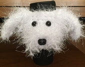 Crochet // Maltese // Dog // Coffee Cozy // Water Bottle Cozy // Handmade