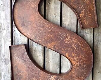 3 foot Rusty Letter