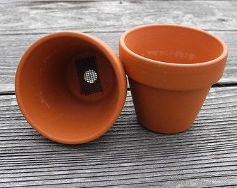 Miniature Garden Terra Cotta Pot Set, for Mini Gardens, Succulent Gardens, Fairy Gardens, For DIY Office Gift, Coworker gift, Thank You Gift