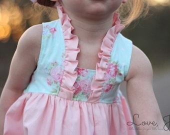 Spring Toddler Dress Handmade Girls Dress Paris Dress by LoveJesi