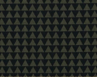 Windham Wild Field Triangles Olive - Cotton Quilting Fabric - 1 Yard