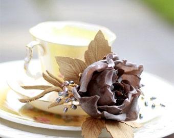 Handmade Flower Brooch - Corsage or Boutonniere