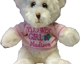 Personalized flower girl/ring bearer bears (sold seperatly, not as a pair)