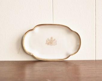 Vintage porcelain dish, Haviland, France, James M. Shaw 1915