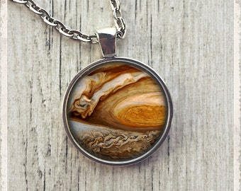 Jupiter Planet - Photo Pendant Necklace -  Galaxy Jewelry or Key Ring Keychain