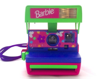 Barbie Polaroid OneStep Close Up Instant Film Camera  - Tested, Working
