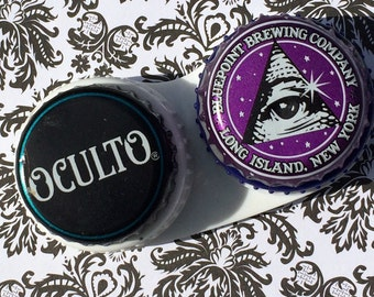 Occult Illuminati New World Order Conspiracy Theory Eye Pyramid Mind Control  Purple Contact Lens Case Monarch