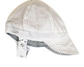 UB2 LITTLE ENGINEER an incurably cute totally classic  baby BOY sun hat in a lovely newsboy hat shape by The Urban Baby Bonnet (all sizes)