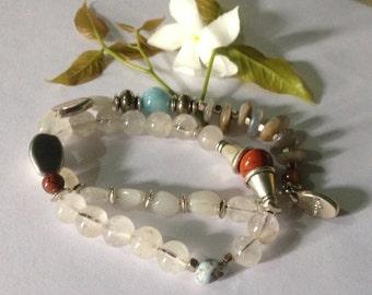 Full Moon - Moonstones & Majik Infinity Yoga Bracelet -