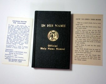 IN HIS NAME, Official Holy Name Manual 1941, Excellent Condition