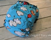 Flying Pigs- OS Hybrid Fitted Cloth Diaper FREE SHIPPING