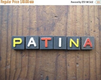 20%OFF SALE PATINA Vintage Wood Anagram Game Pieces, Retro Home Decor, Gifts under 10, Gifts for Her, Wood Sign