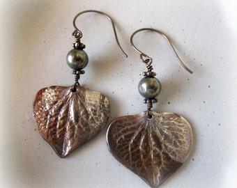 Hydrangea Petal Earrings