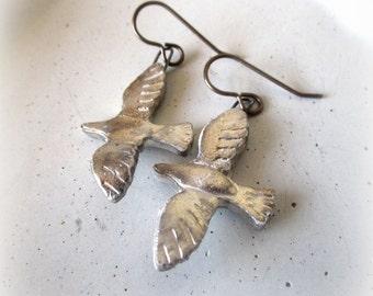 China Doves in Flight Earrings