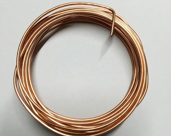 14 gauge Copper Non Tarnish Craft Wire 10 ft Made in USA