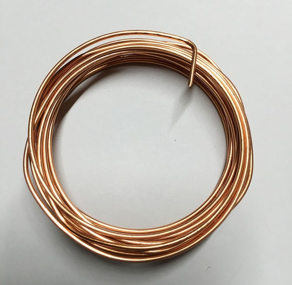 14 gauge copper non tarnish craft wire 10 ft made in usa for 10 gauge craft wire