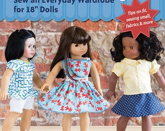 Just released! Doll Days! Sew an Everyday Wardrobe for  18 inch dolls Sewing Pattern Book