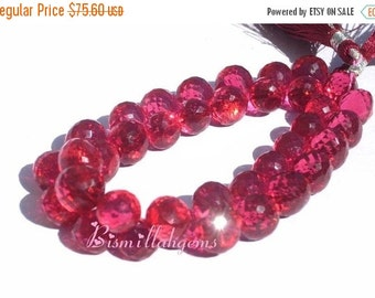 55% OFF SALE 1/2 Strand - AAA Pomegranate Pink Quartz Faceted Onion Shaped Briolettes 9 - 10mm approx