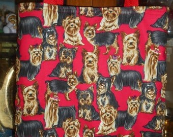 Yorkshire Terrier Tote Bag Dog Puppy Yorkie Yorkies Handmade Purse Limited