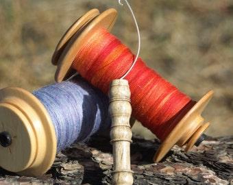 Orifice Hook & WPI Gauge - Hand Turned Rare Blue Mahoe
