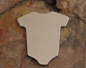 "5 Deburred 1 1/4"" inch X 1 1/8"" BABY T-SHIRT *Choose Your Metal* Aluminum Brass Bronze Copper Nickel Silver Stamping Blanks"