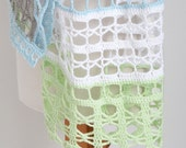 Lace crochet shawl, sand and see colors, Cotton,  N406