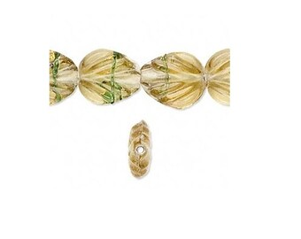 Glass Leaf Beads 15X13X6MM - 25 beads Jewerly Craft fnt