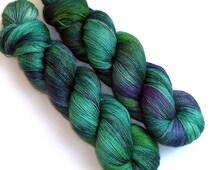 Lace Yarn Baby Alpaca, Silk and Cashmere - Green Dragonfly, 1300 yards