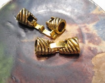 3 clasps, Strong Buckle Clasp with cord ends, Antique Gold Kumihimo clasp 22x8x6mm I.D. Closures CL1007 A16