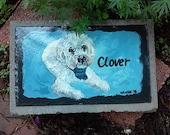 Animaux de compagnie de PET Memorial Garden Pierre, ardoise, Pierre tombale, mémorial pour animaux de compagnie en plein air,, personnalisées peintes se peloter stèle, personnalisé,, cat, dog, pet
