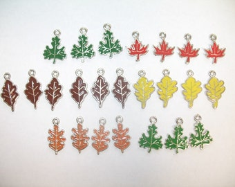 Seasonal Leaf Charms for Art and Craft Projects