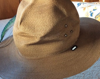 PARK RANGER HAT, vintage uniform, straw hat, self forming, usa made, Stratton