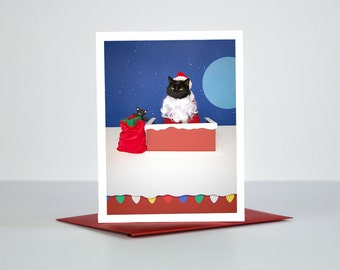 AC is Santa Claus Greeting Card