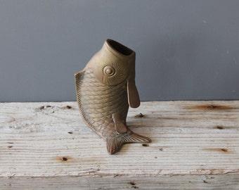 Brass Koi Fish Vase