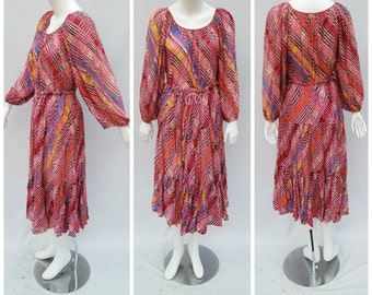 Vintage Indian Gauze Top + Skirt  //  Vtg 70s 80s India Cotton 2pc Dress Set