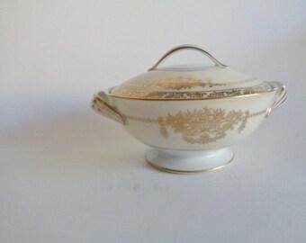 Noritake Bancroft 5481 Sugar Bowl with Lid