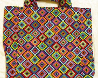 Market Bag - Diamond design