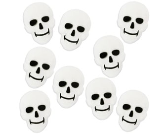 White Skull Sugars - edible sugar skulls for decorating Halloween cakes, cupcake, and cookies