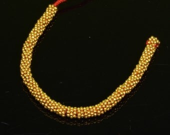 2.5mm 18k Solid Yellow Gold Daisy Spacer Findings 2.5 INCH Strand