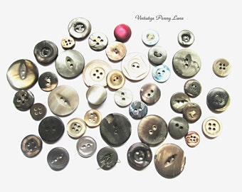 Art Deco Buttons, Antique Mother of Pearl / Abalone Shell Lot