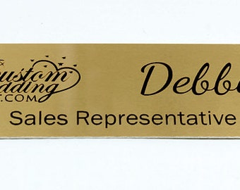 Engraved Brushed Brass,Engraved Name Tag,Personalized Name Tag,ID Tag