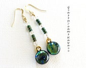 Dichroic Glass Dangle Ear...