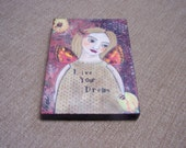 Angel  Fairy Painting Original Encaustic by the artist FREE SHIPPING