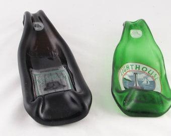 BELIKIN beer bottles from BELIZE - spoonrest or dish - Lighthouse Lager or Belikin Premium - Mayan temple beer